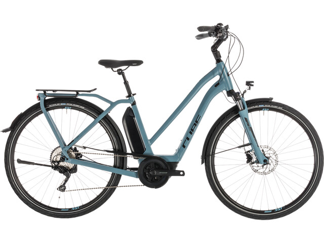 Cube Town Sport Hybrid Pro 500 E-citybike Trapez blå/petroleumsgrøn